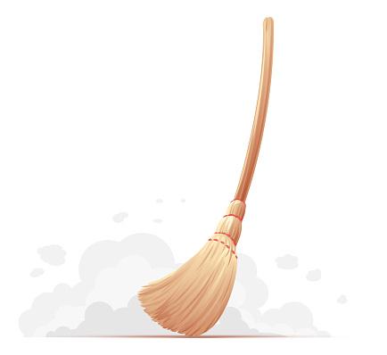 Big_yellow_broom_sweep_floor_isolated
