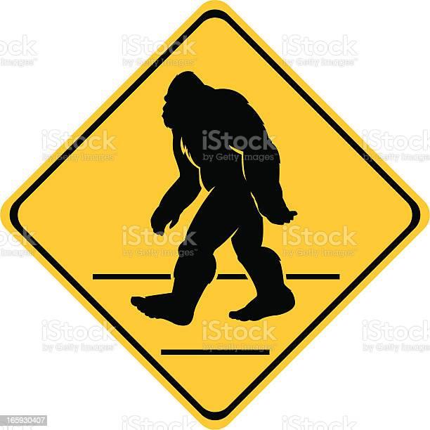 Bigfoot crossing sign vector id165930407?b=1&k=6&m=165930407&s=612x612&h= p92kh rnmmvh5uahgnl31ucilujrb oz6jpwjosnns=