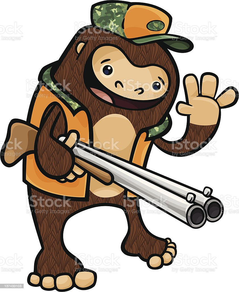 Bigfoot Hunter royalty-free bigfoot hunter stock illustration - download image now