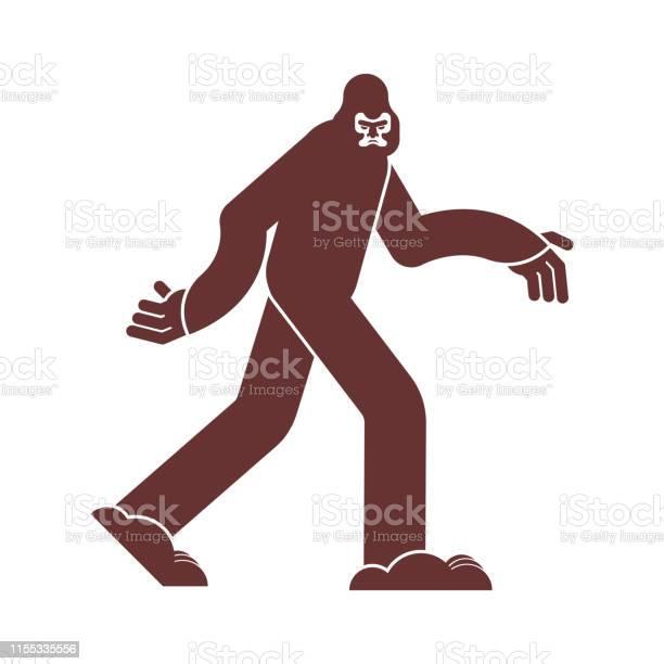 Bigfoot icon yeti sign abominable snowman symbol sasquatch vector id1155335556?b=1&k=6&m=1155335556&s=612x612&h=4isnhl8eatz2edpicceglclmcviw8sobqgdxyymt6l8=