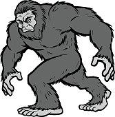 A vector illustration of a Bigfoot Mascot.