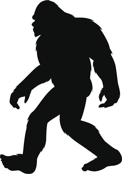 bigfoot silhouette vector art illustration