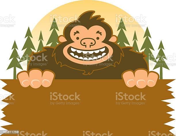Bigfoot smiling holding sign in the woods vector id165811259?b=1&k=6&m=165811259&s=612x612&h=fdeo5dfx5qxkqjj5oqs2lkduxypvto8motthx2momjy=