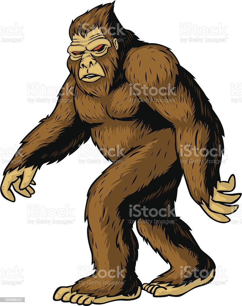 bigfoot vector art illustration