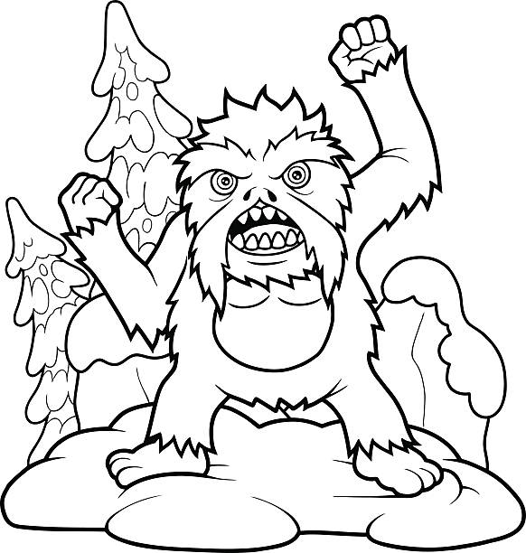 Coloring Book Yeti Clip Art Vector Images Illustrations