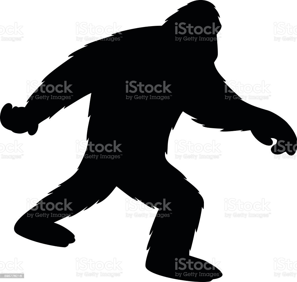 royalty free bigfoot clip art vector images illustrations istock rh istockphoto com bigfoot footprint clipart bigfoot clipart