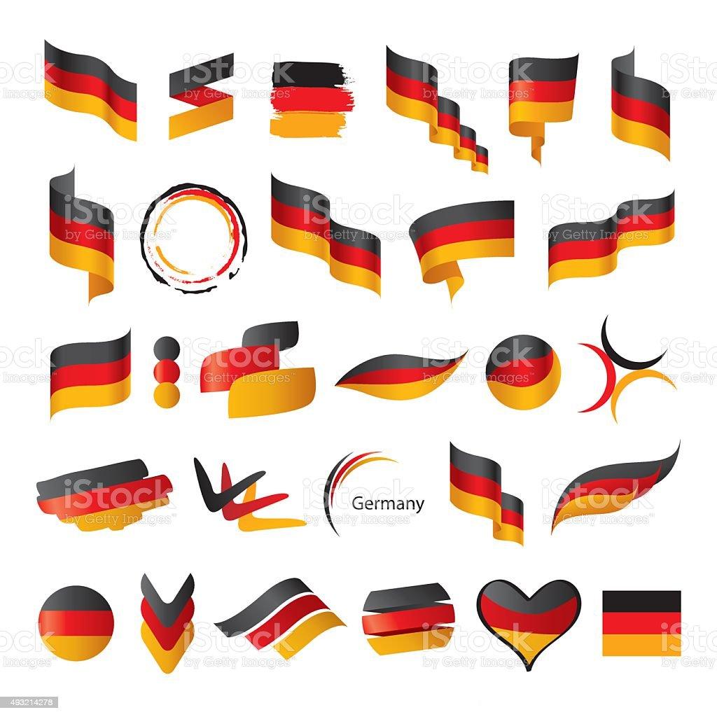 Größte Sammlung von Vektor-Flagge von Deutschland – Vektorgrafik
