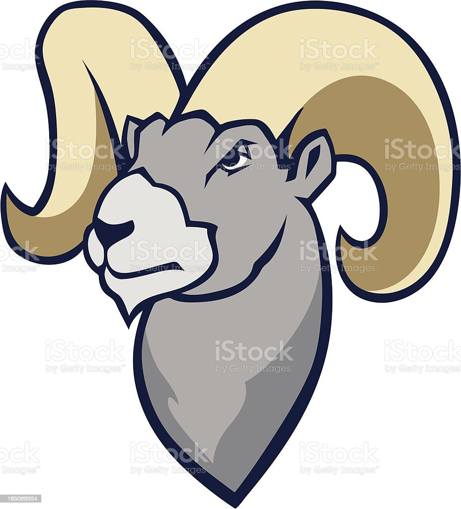 Bighorn Ram Mascot royalty-free stock vector art