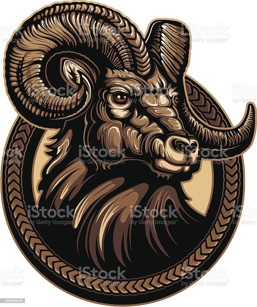 Bighorn Ram vector art illustration