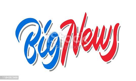 Big news sign, emblem, label, badge,sticker. Designed for your web site design, logo, app, UI -