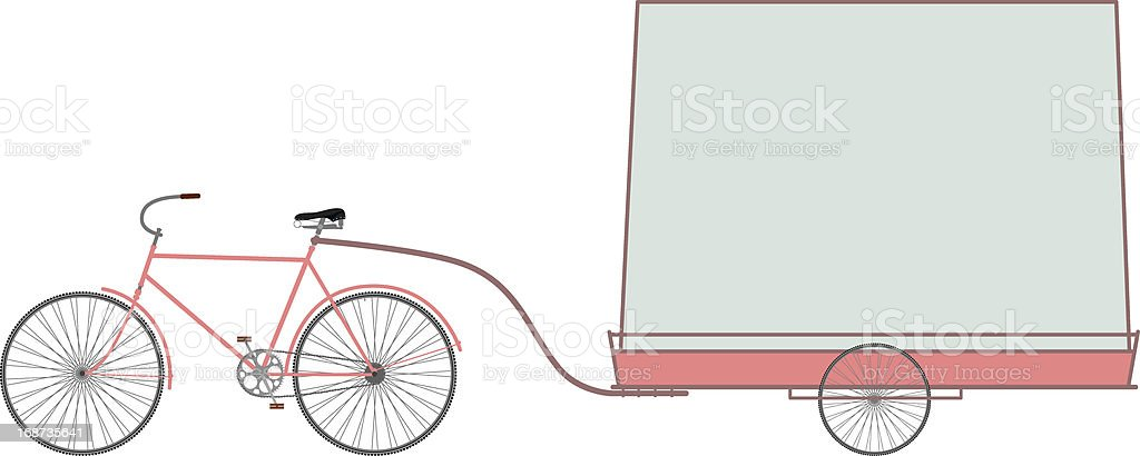 Bike and banner. royalty-free bike and banner stock vector art & more images of bicycle