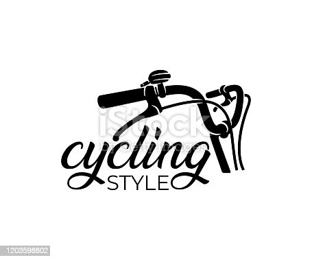 Bike and bicycle steering wheel, design. Bicycle, cycle or velocipede, vector design and illustration