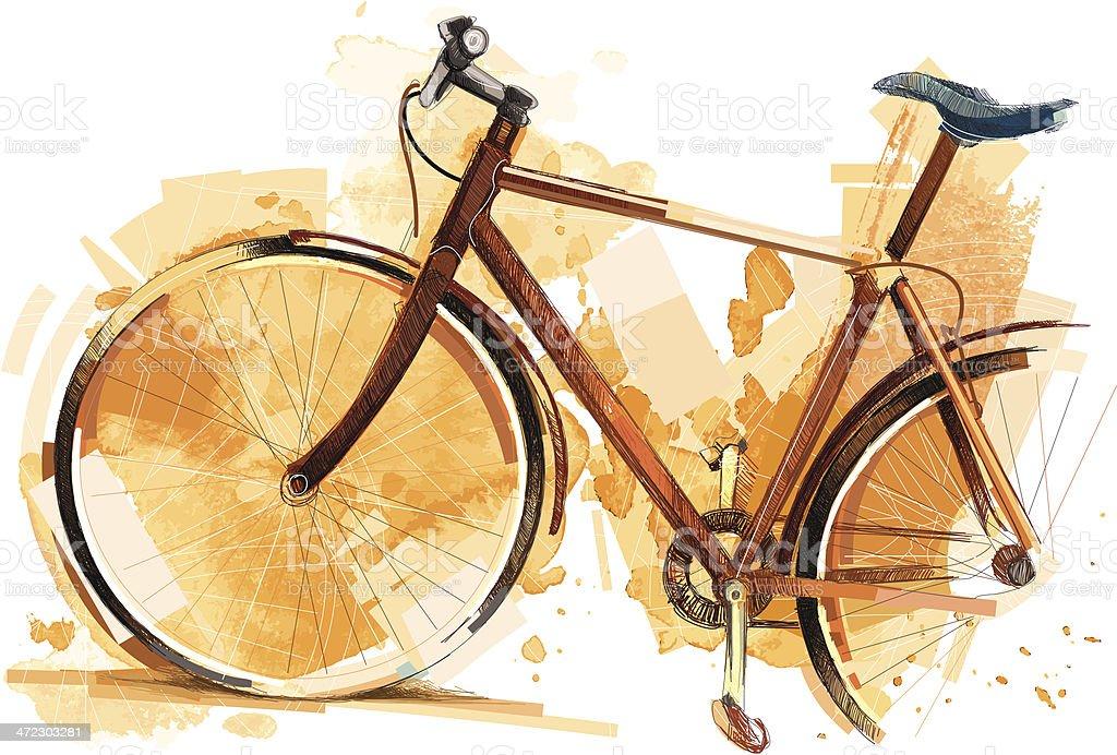 Bike Arts vector art illustration