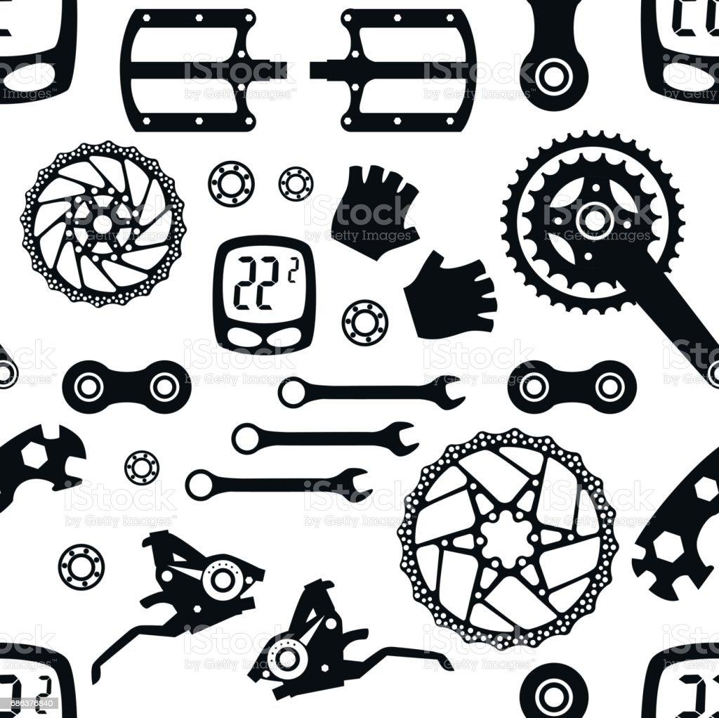 Fahrrad Fahrradteile Nahtlose Muster Stock Vektor Art und mehr ...