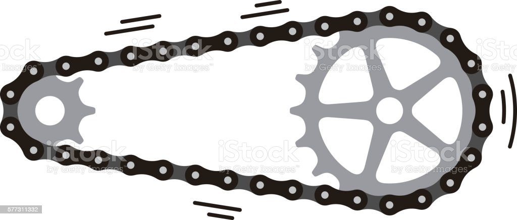 royalty free bicycle chain clip art vector images illustrations rh istockphoto com bike chain vector graphic free bike chain vector graphic free