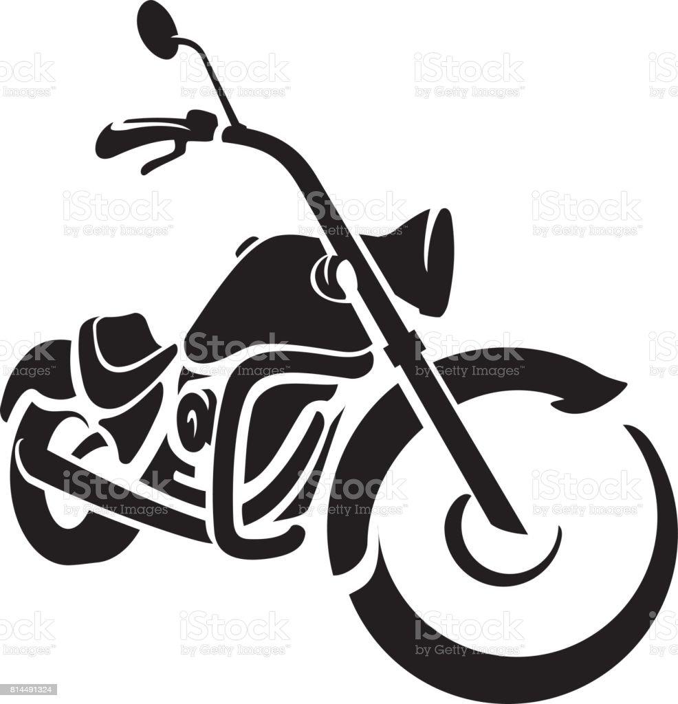 Bike Chopper Ride Front vector art illustration
