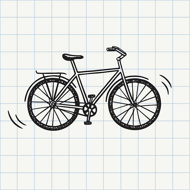 bike doodle icon - bike stock illustrations, clip art, cartoons, & icons