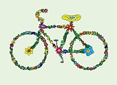 Bike flourish ornament