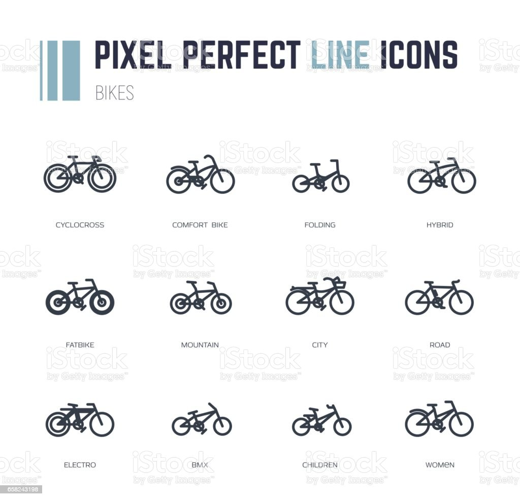 Bike frames icons vector art illustration
