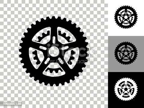 istock Bike Gear Icon on Checkerboard Transparent Background 1265637135