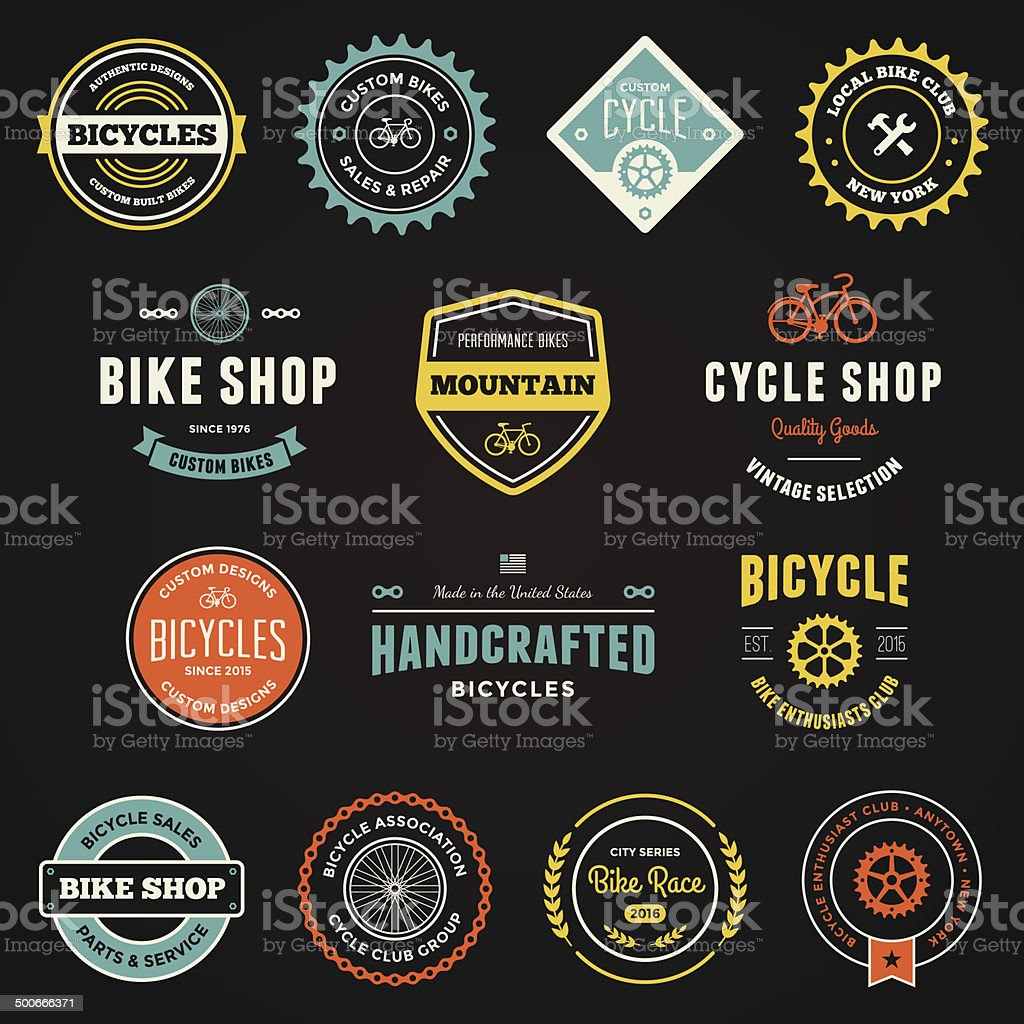 Bike graphics vector art illustration