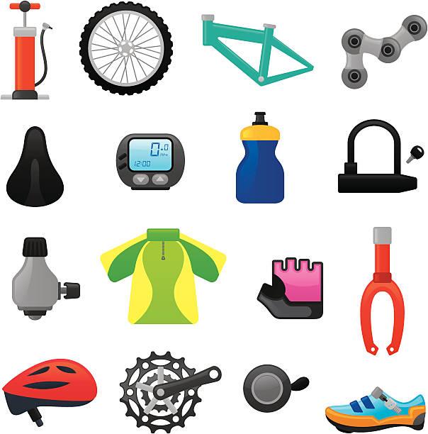Bike icons | smoso series vector art illustration