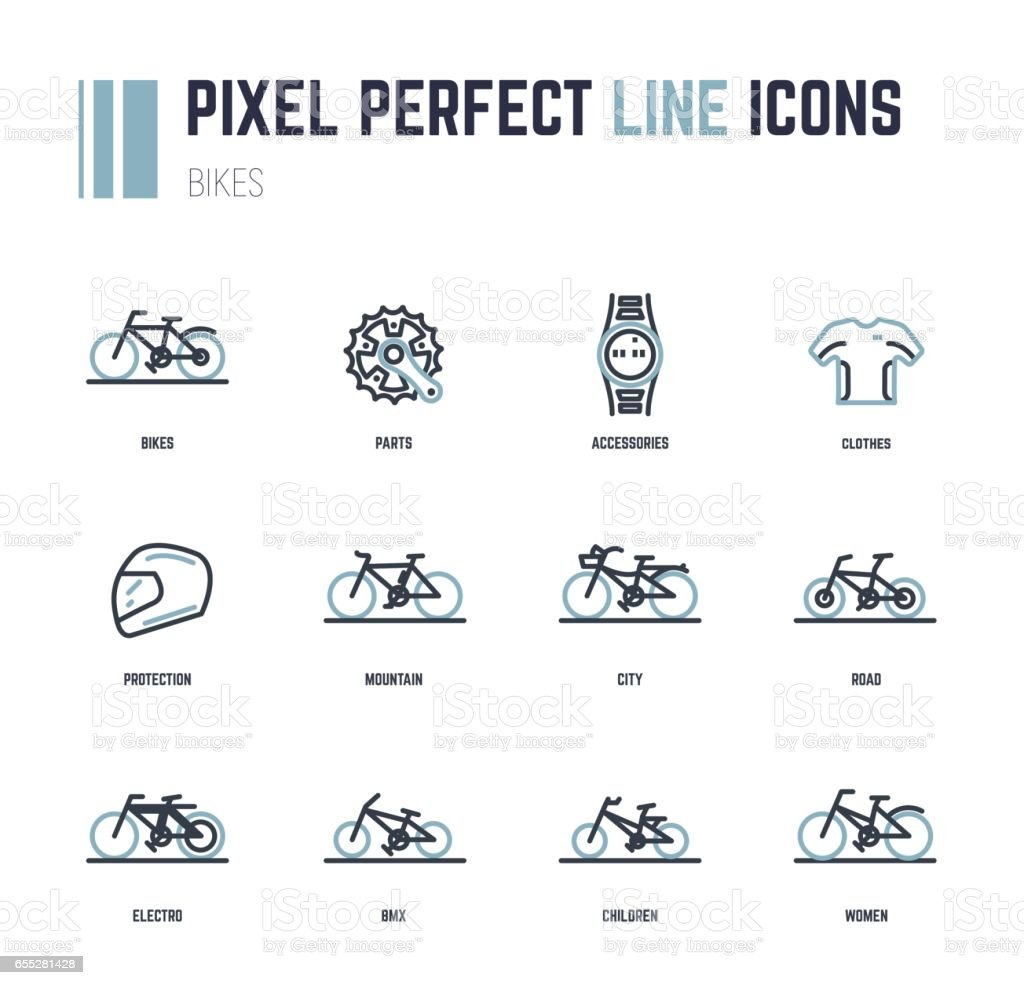 Bike icons vector art illustration
