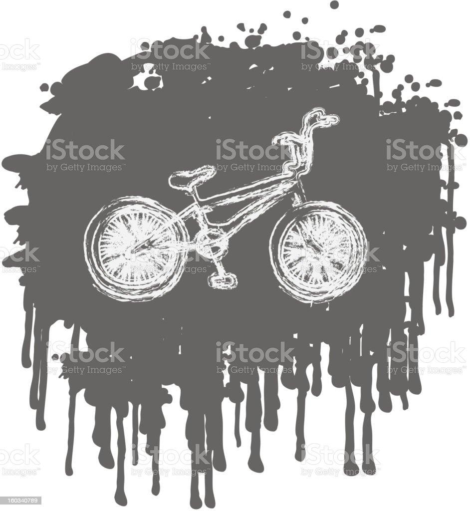 BMX bike on splash background. royalty-free stock vector art