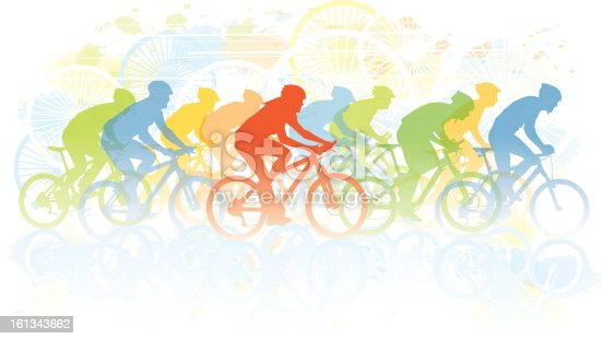 Group of cyclist in the bicycle race. Sport illustration, eps10 file format