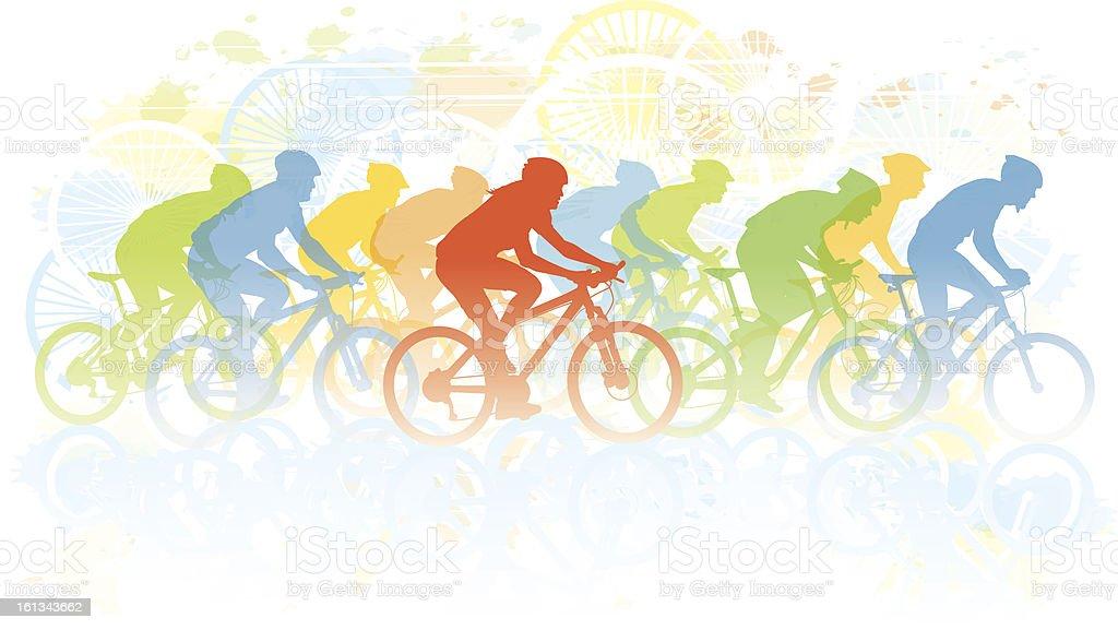 Bike race vector art illustration