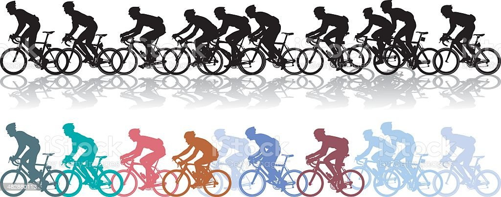 Bike Race Stock Vector Art & More Images of Activity ...