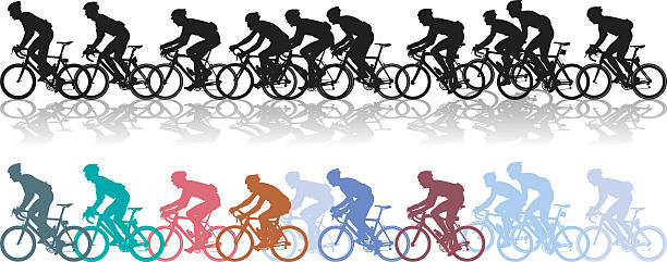 bike race - bike stock illustrations, clip art, cartoons, & icons