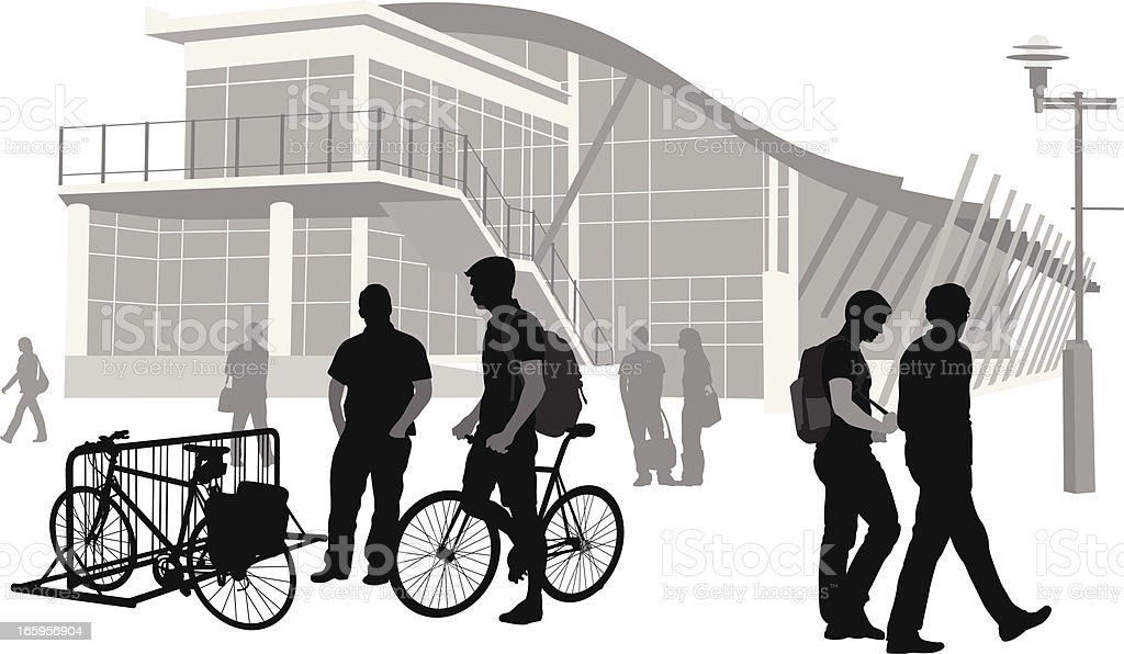 Bike Rack Vector Silhouette vector art illustration