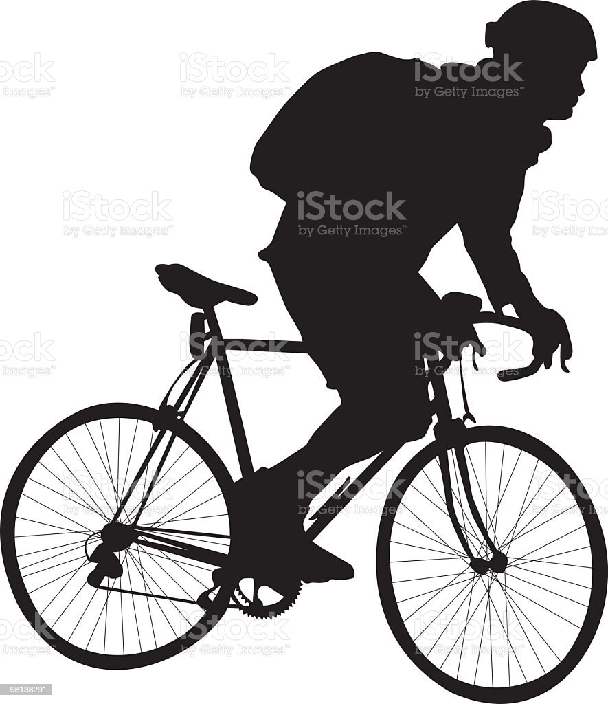 Bike riding royalty-free stock vector art