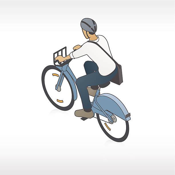 Bike Share Cyclist Illustration vector art illustration