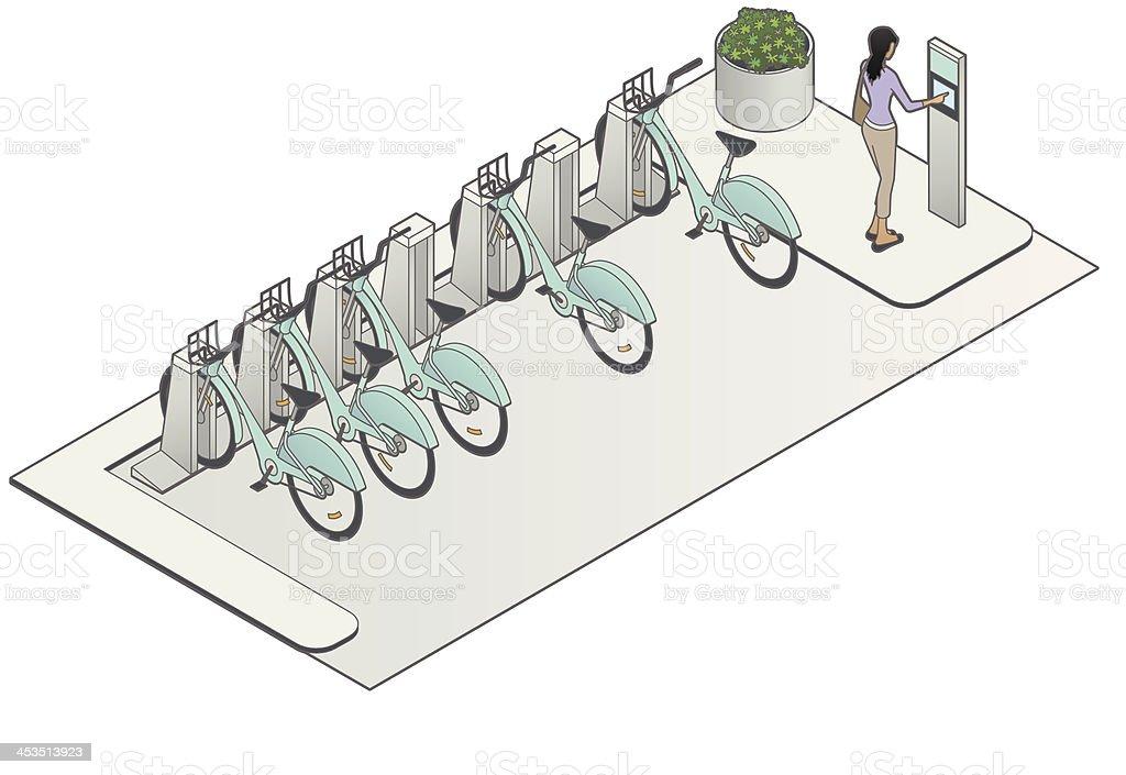 Bike Sharing Image vector art illustration