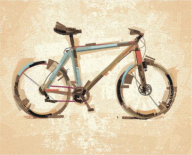 ilustraciones, imágenes clip art, dibujos animados e iconos de stock de bicicleta sktech - bastidor de la bicicleta