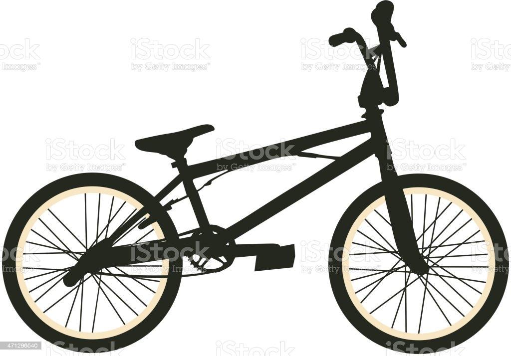 BMX Bike vector art illustration