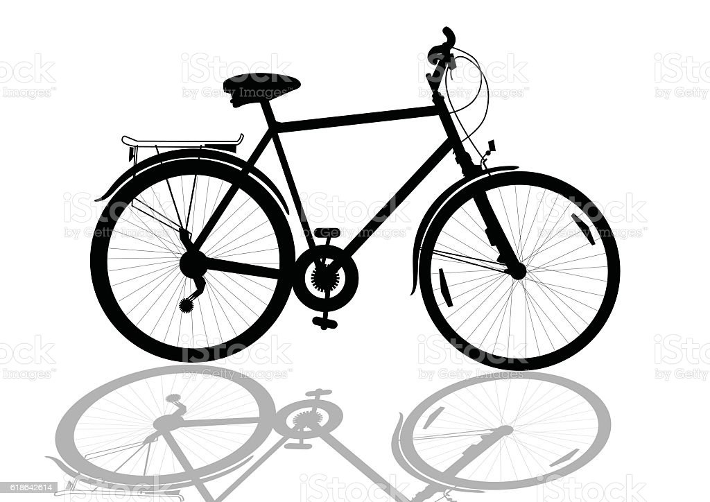 bike vector art illustration