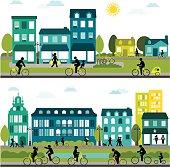 Bike-Friendly City - Horizontal Design