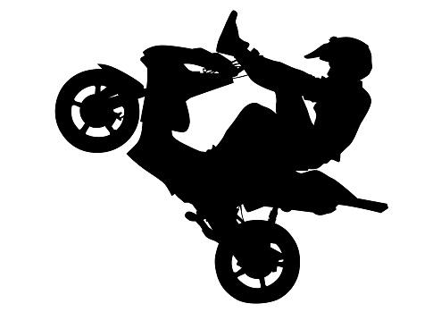 Biker and motor