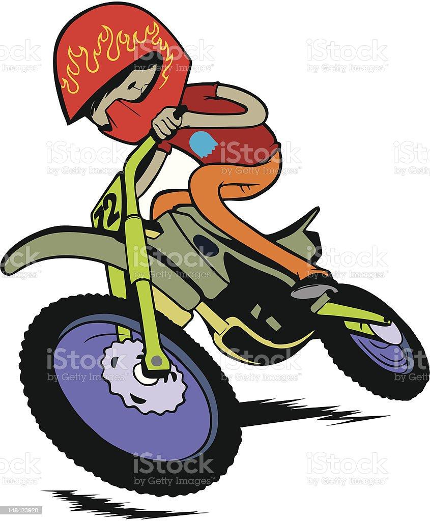 Biker boy. royalty-free stock vector art