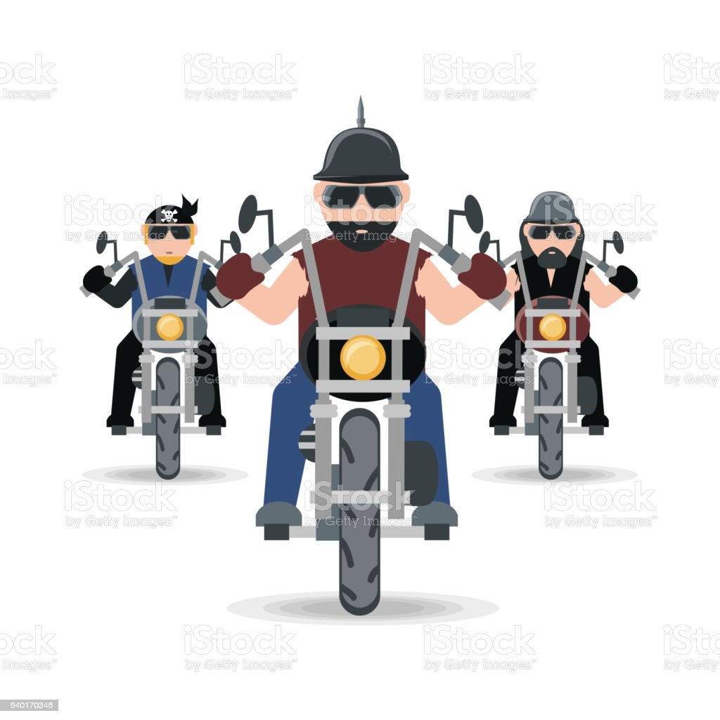 biker culture design vector art illustration