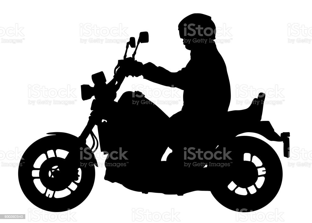 biker driving a motorcycle vector silhouette motorcyclist rh istockphoto com indian motorcycle vector art indian motorcycle vector art