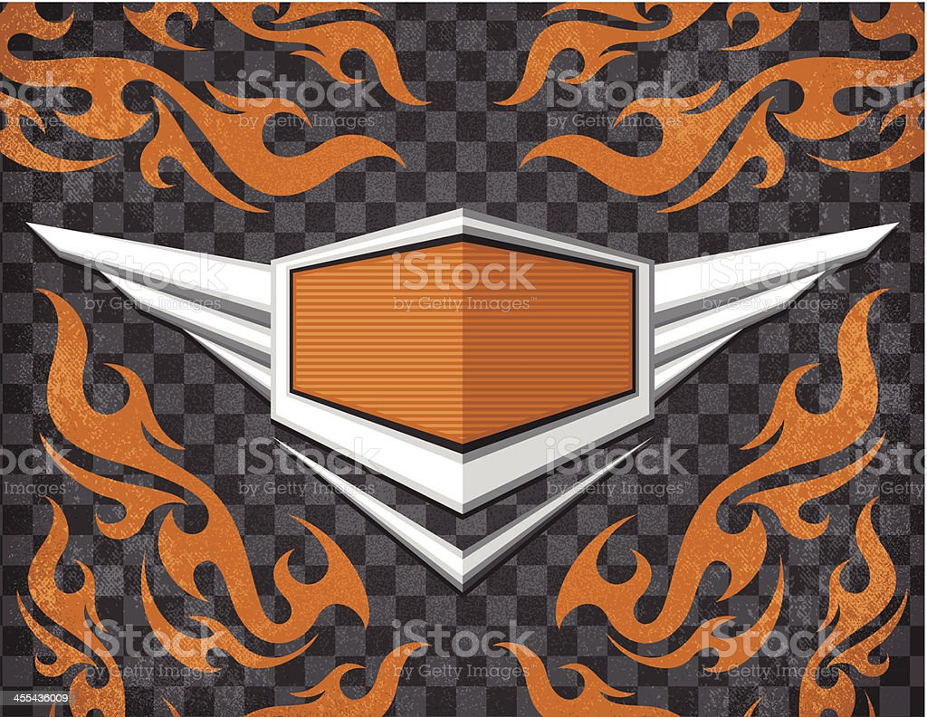 Biker Emblem royalty-free stock vector art