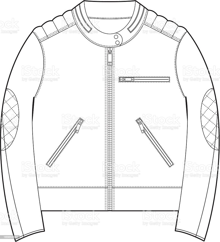 biker jacket template stock illustration