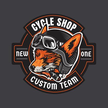 Biker moto emblem