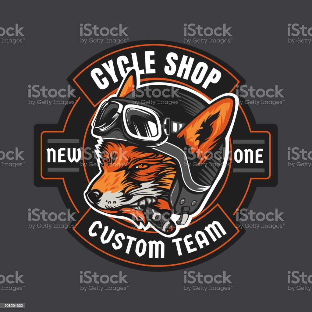 Biker moto emblem vector art illustration