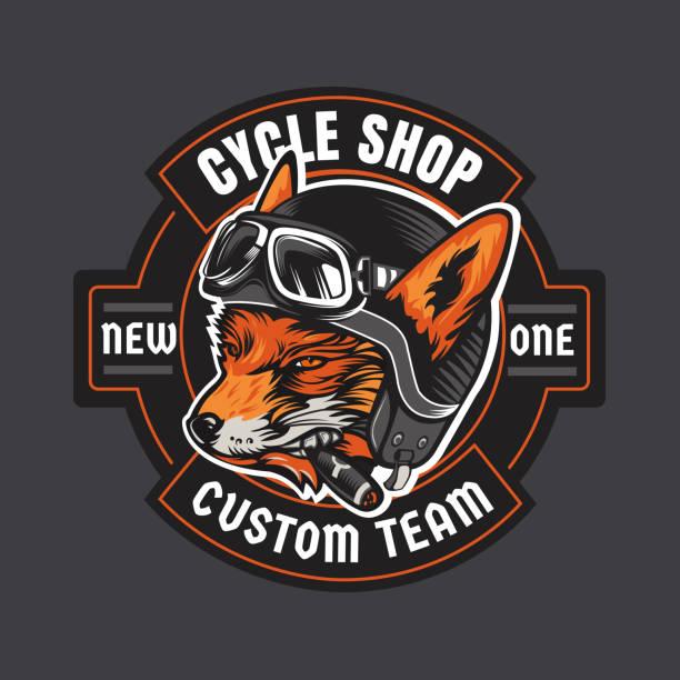 Biker moto emblem vector art illustration