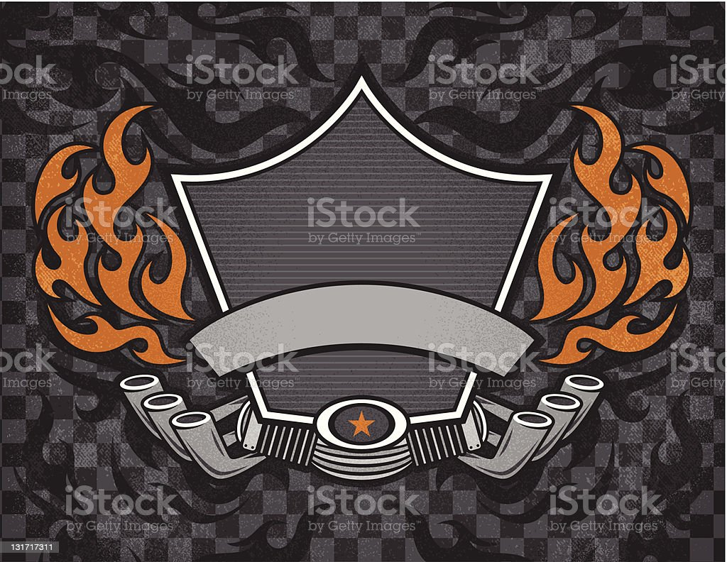 Biker Shield Grunge royalty-free biker shield grunge stock vector art & more images of art